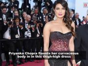 Priyanka Chopra sizzles in this thigh-high slit outfit at Cannes 2019