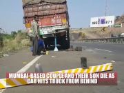 Pune: 3 of a family, driver die as car rams into truck