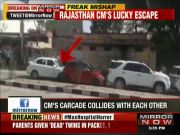 Rajasthan CM Vasundhara Raje escapes deadly accident