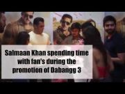 Salman Khan spending time with fan's during the promotion of Dabangg 3