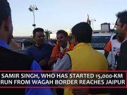 Samir Singh, who is on 15,000-km run for 'Bharat Ke Veer', reaches Jaipur