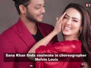 Sana Khan confesses love for choreographer Melvin Louis with loved-up posts