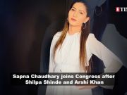 Sapna Chaudhary enters politics, joins Congress party