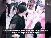 Sapna Choudhary dances her heart out on 'Teri Aakhya Ka Yo Kajal'