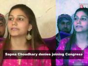 Sapna Choudhary denies joining Congress