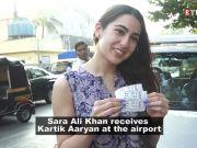 Sara Ali Khan receives Kartik Aaryan at airport; Esha Gupta meets with an accident, thanks Mumbai Police for help, and more