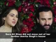 Sara Ali Khan reveals the truth behind the reports of her moving out of mom's house