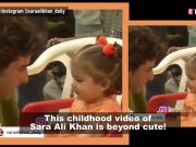 Sara Ali Khan's childhood video is the cutest thing you will see on the internet today