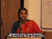 Shabana Azmi gets trolled after congratulating PM Narendra Modi over his unprecedented win