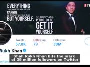 Shah Rukh Khan beats Amitabh Bachchan, becomes most followed Indian actor on Twitter with 39 million followers