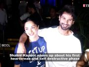Shahid Kapoor on his self-destructive phase and first heartbreak