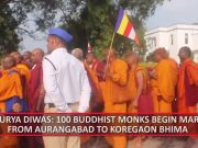 Shaurya Diwas: Buddhist monks trek to Koregaon Bhima