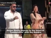 Shilpa Shetty dances her heart out with hubby Raj Kundra 'Lamberghini'