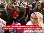 Silent protest in Pune demanding justice for Kathua, Unnao & Surat rape victims