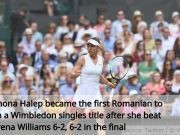 Simona Halep beats Serena Williams in the Wimbledon final