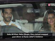 Soha Ali Khan  Neha Dhupia  Kiara Advani snapped post dinner at Karan Johar s residence