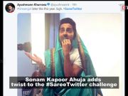 Sonam Kapoor Ahuja takes #SareeTwitter challenge, but with a twist