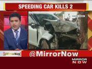 Speeding car kills 2 in Telangana