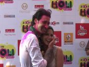Sunny Leone, Poonam Pandey at Holi party