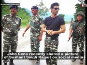 Sushant Singh Rajput in wrestler John Cena's post leaves netizens guessing