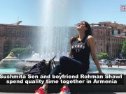 Sushmita Sen with boyfriend Rohman Shawl walks hand in hand on streets of Armenia