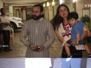 Taimur waves to paparazzi as he returns from London with mom Kareena Kapoor Khan and daddy Saif Ali Khan