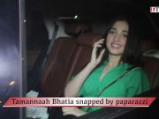 Tamannaah Bhatia snapped by paparazzi