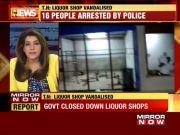 Tamil Nadu: Villagers vandalise govt owned liquor shop, 16 arrested