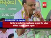 Teary-eyed Kumaraswamy says he is not happy heading coalition govt in Karnataka