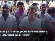 Telangana polls: Transgender files nomination from Goshamahal constituency
