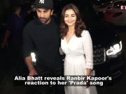 This is how Ranbir Kapoor reacted to Alia Bhatt's 'Prada' song!