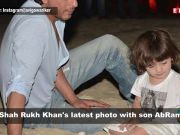 This picture of Shah Rukh Khan with son AbRam shows their rare bond