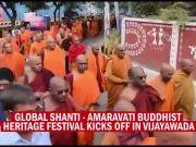 Thousands of Buddhist monks take out Shanti Yatra in Vijayawada