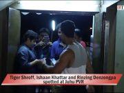 Tiger Shroff, Ishaan Khattar and Rinzing Denzongpa spotted at Juhu PVR