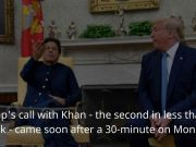 Trump urges Pak PM Imran Khan to 'moderate rhetoric' with India