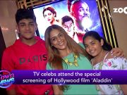 TV stars attend Disney's 'Aladdin' screening