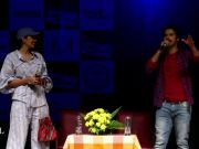 Varun Dhawan and Banita Sandhu visit Mumbai college for 'October' promotions