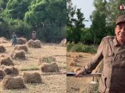 Veteran actor Dharmendra welcomes guinea fowls to his farms, shares video on social media