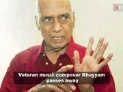 Veteran music composer Mohammed Zahur 'Khayyam' Hashmi passes away