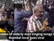 Video of elderly man singing songs to his co-passenger will make you day