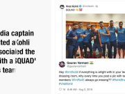 Virat Kohli posts 'squad' picture, fans ask where's Rohit Sharma?