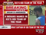 Virat Kohli, Rohit Sharma featured in ICC's ODI team of the year