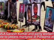 Visakhapatnam: TDP MLA and party workers pay tribute to jawans martyred at Pulwama attack