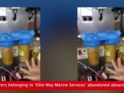 Watch: 'Abandoned' seafarers forced to use rust contaminated water