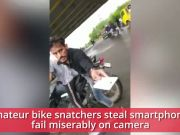 Watch: Amateur bike snatchers steal smartphone, fail miserably