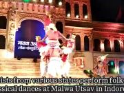Watch: Artists enthrall audience with folk and classical dances at Malwa Utsav