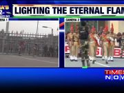 Watch: Beating Retreat ceremony at Wagah Border on 72nd Independence Day