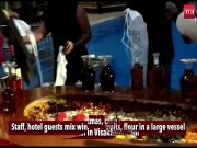Watch: Cake mixing ceremony held at Visakhapatnam hotel ahead of Christmas
