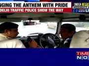 Watch: Delhi traffic cop sings patriotic songs ahead of R-Day