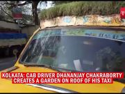 Watch: Kolkata cabbie creates rooftop garden on his taxi